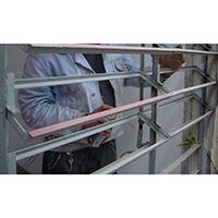 Pintura de janela metálica tipo vitrô
